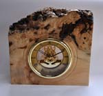 Chestnut burr skeleton clock