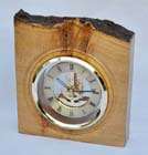 Oak burr skeleton clock