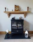 Oak mantelpiece