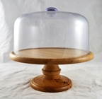 Turned wooden cake stand